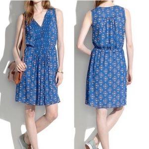 Madewell Silk Floral Dress